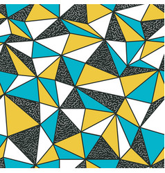 Geometric seamless pattern in retro style vintage vector