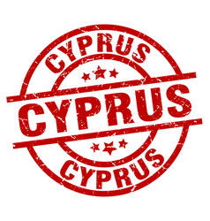 Cyprus red round grunge stamp vector