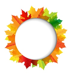 Autumn composition with speech bubble vector