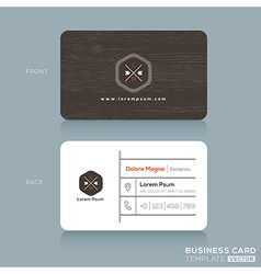 Modern business card design template vector