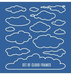 Editable of clouds isolated on blue vector