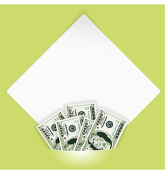 Money photo mount vector