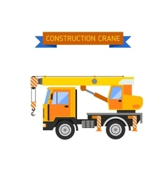 Building under construction crane machine technics vector