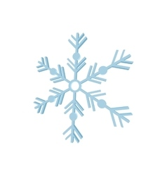 Snowflake icon cartoon style vector