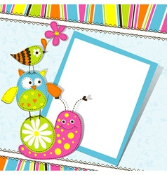 Cute animals greeting card vector