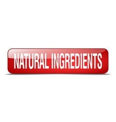 Natural ingredients red square 3d realistic vector