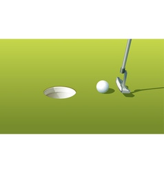 Putting green vector image