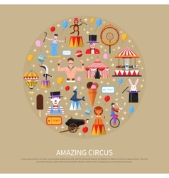 Amazing Circus Concept vector image