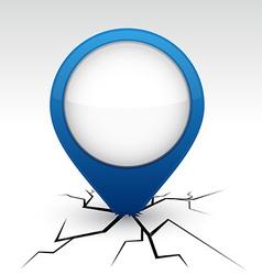 Blue speech icon in crack vector