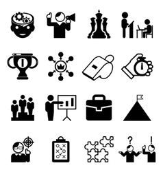 Business mentoring icons and coaching signs vector