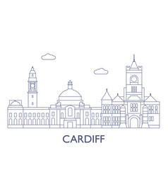 cardiff vector image