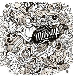 Cartoon cute doodles hand drawn massage vector