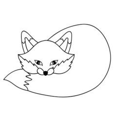 Cartoon fox vector