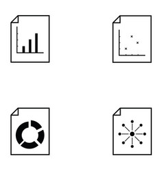Chart icon set vector