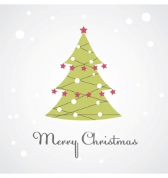 Christmas tree illustration vector image