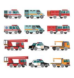 flat emergency vehicles vector image