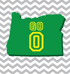 Go Oregon Chevron Card vector image
