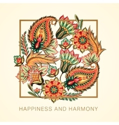 Happiness and harmony vector