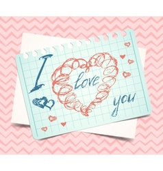 Hearts love Valentine background vector image