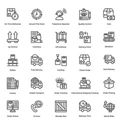 Logistic delivery icons set 10 vector