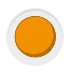 Pancakes on plate topview icon vector