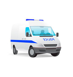 police van isolated on white vector image vector image