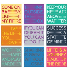 Quote set vector image