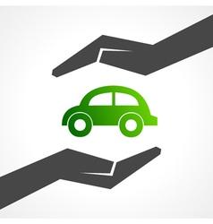 Save eco car concept vector