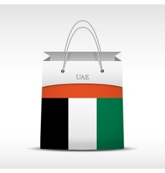 Shopping bag with flag UAE vector image