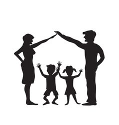 Silhouette of family symbol vector image