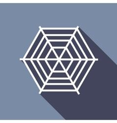Spiderweb icon flat style vector