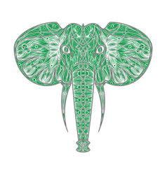 stylized ethnic boho elephant portrait isolated vector image vector image