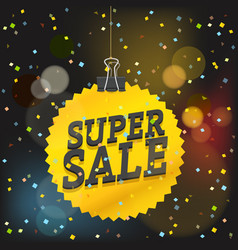 Super sale concept shopping sale luxury logo vector