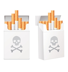 White pack of cigarettes with the image of the vector