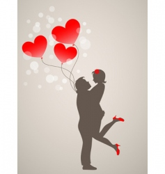 young people in love vector image vector image