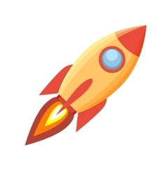 Rocket icon on White Background vector image