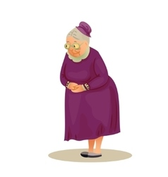 Funny elderly lady with glasses grandmother vector
