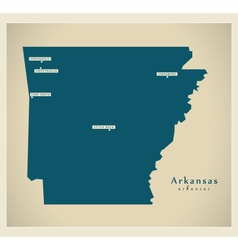 Modern Map USA Arkansas vector image