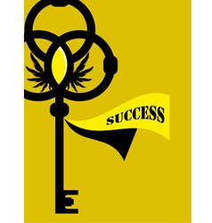 Key of Success vector image