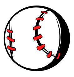 baseball ball icon icon cartoon vector image