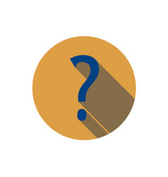 Flat question mark icon question with a long vector