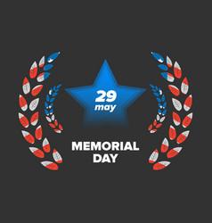 Memorial day 29 may vector