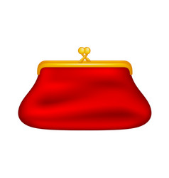 glamour coin purse vector image