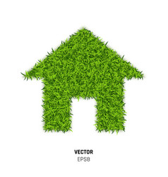 Green grass house vector