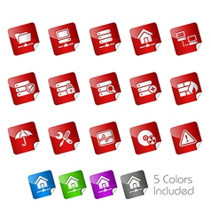 Network Server Stickers vector image