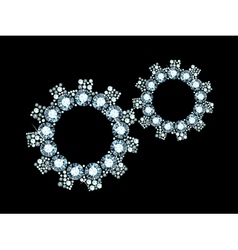 Diamond cogwheels vector