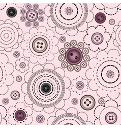 Stylized flowers with buttons vector