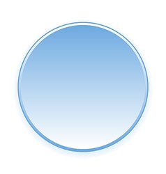 Blank blue button vector