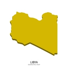 Isometric map of libya detailed vector