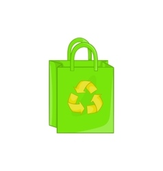 Package recycling icon cartoon style vector